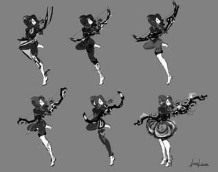 Character Design - Elf Hunter by Lenuk