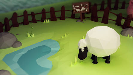 LowPoly Equality - Sheep by Lenuk
