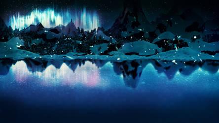 Winter Lowpoly Landscpae by Lenuk