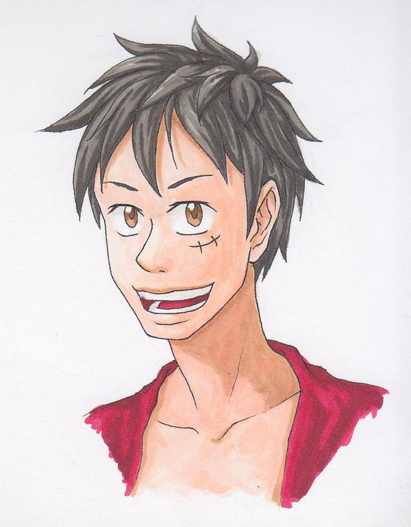 Luffy Headshot by Raikouhou
