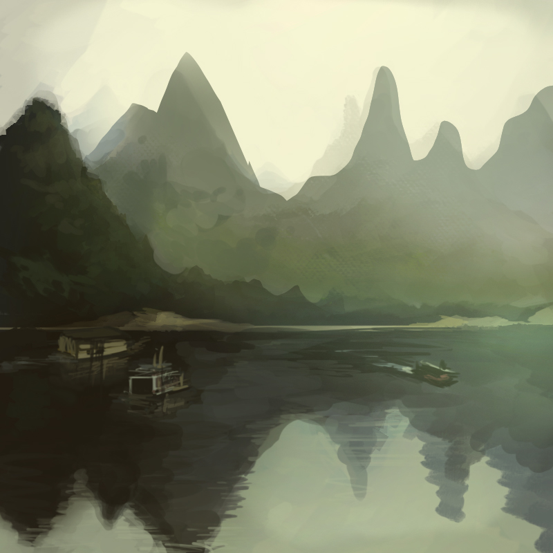 Speedpaint Landscape1 by shark-bomb