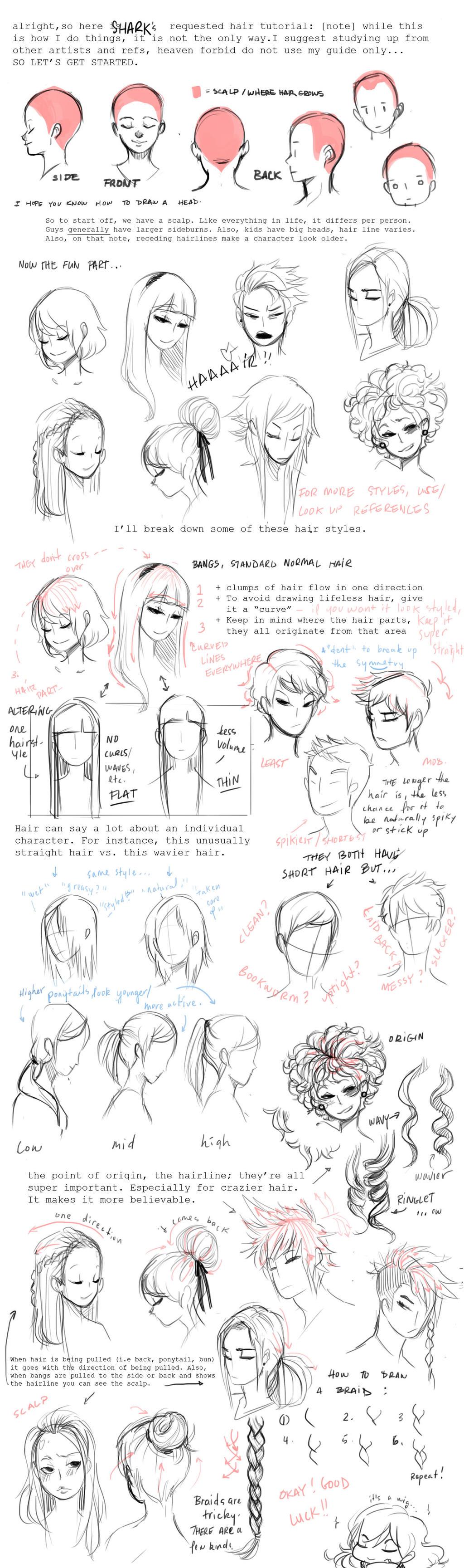 Hair Tutorial by shark-bomb