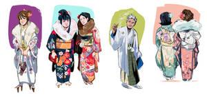 Kimono studies by shark-bomb