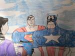 Lois Lane interviews Captain America