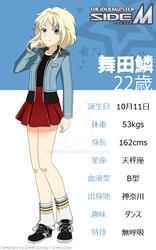 Maita Rin's visual profile sheet