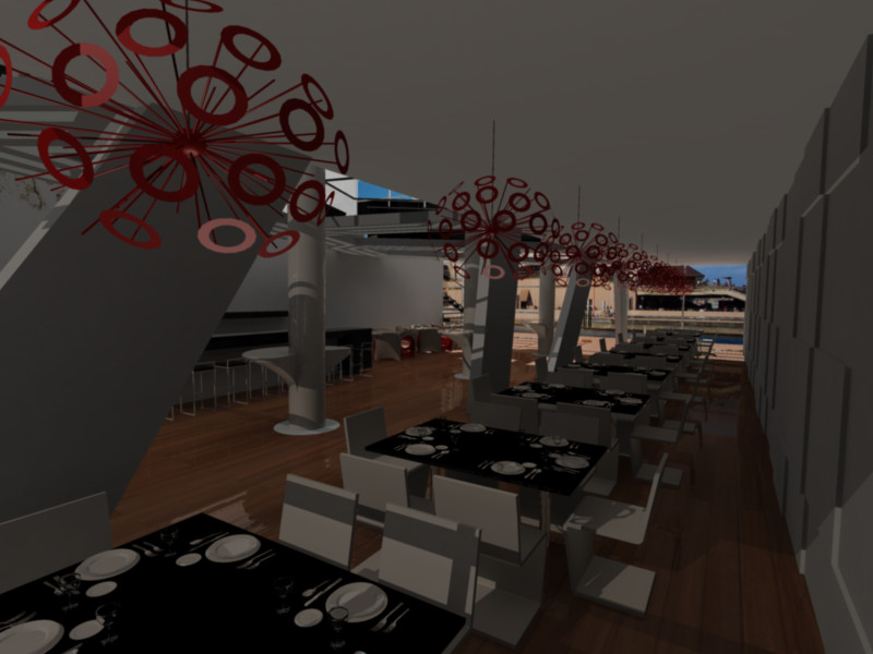 Restaurant design dining area by brunoduval on deviantart