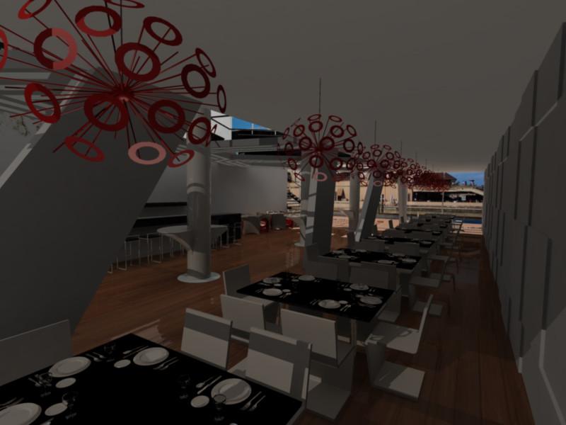 Restaurant design dining area by brunoduval on deviantart