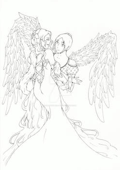 Prom angels - Lineart