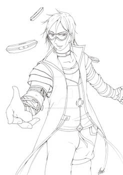 Kevin Futarine lineart 8D