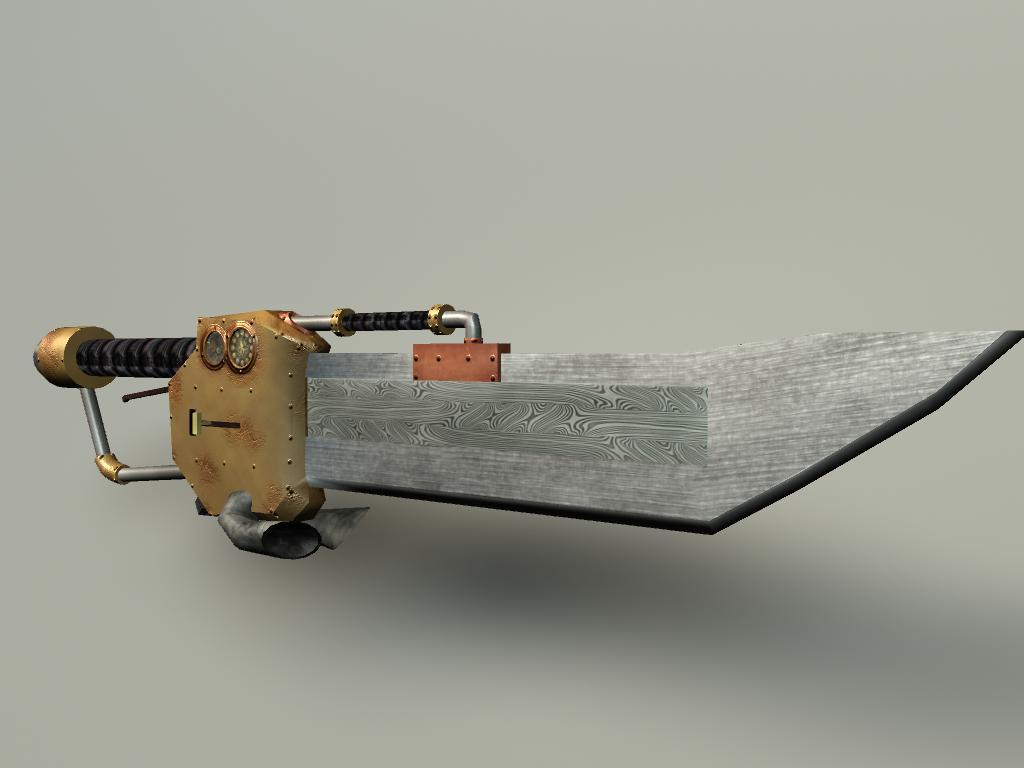 Steampunk sword by Girilla