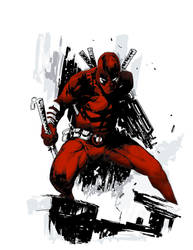 Deadpool art Color for tattoo