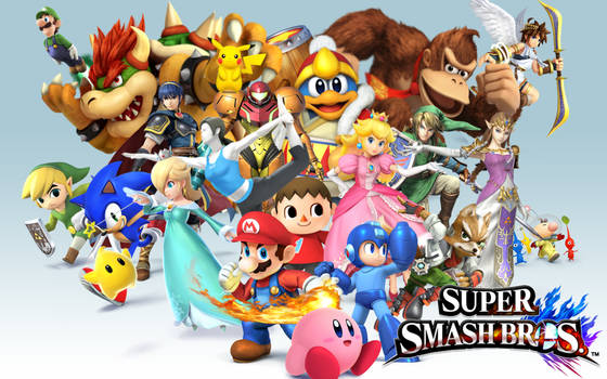 Smash bros Background First round of characters