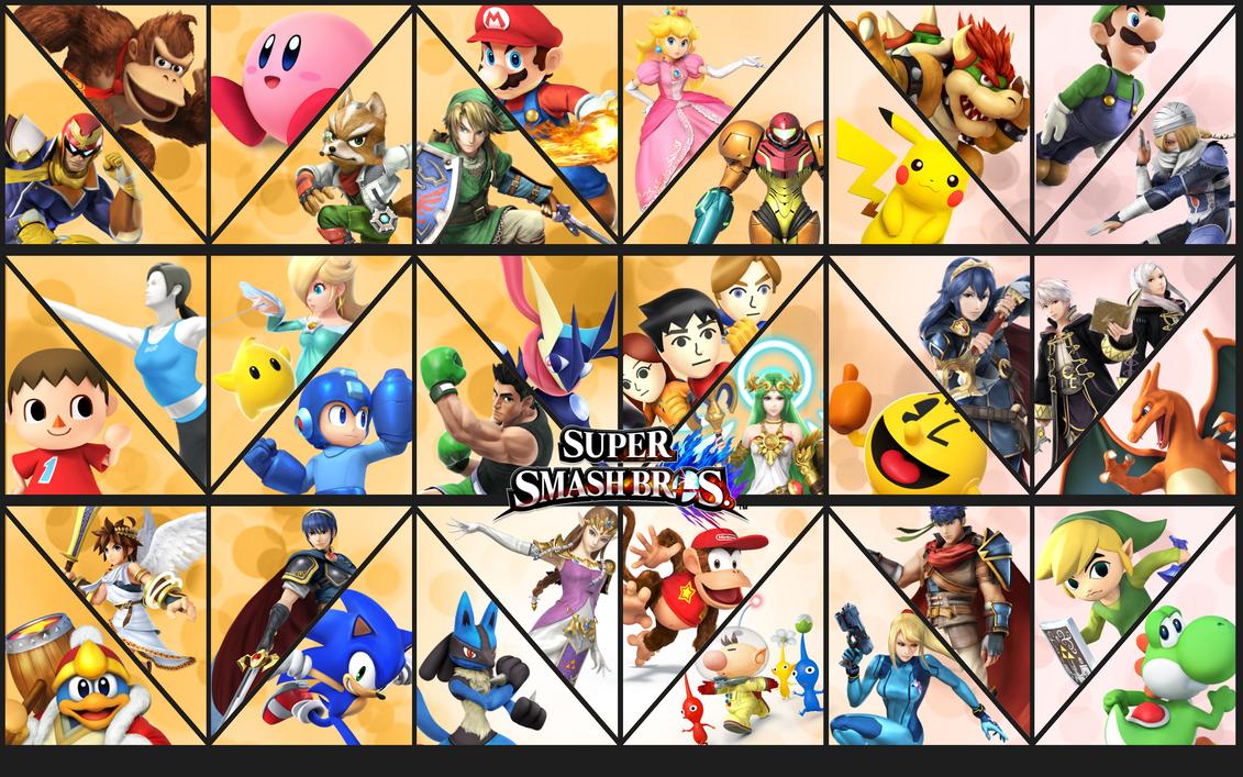 Smash Bros updated background by Badonk