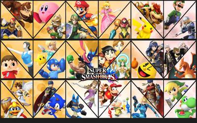 Smash Bros updated background