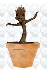 Groot vinyl sticker art