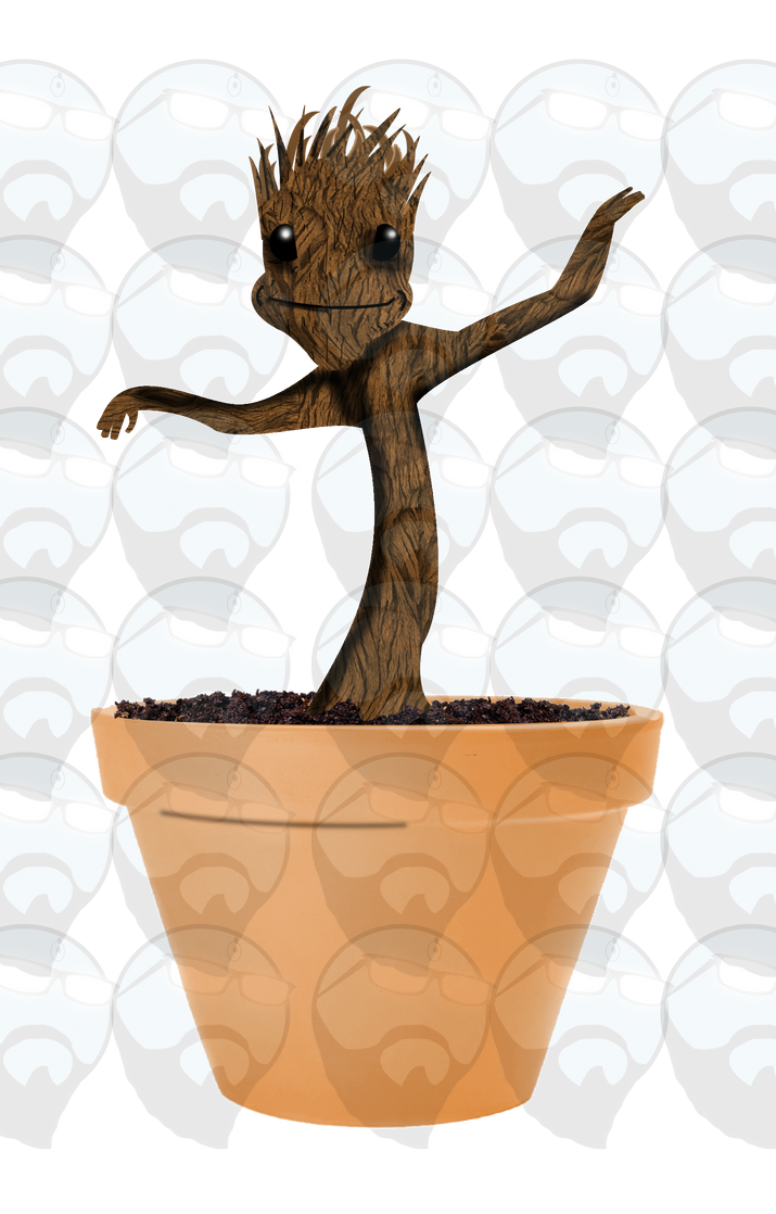 Groot vinyl sticker art by Badonk