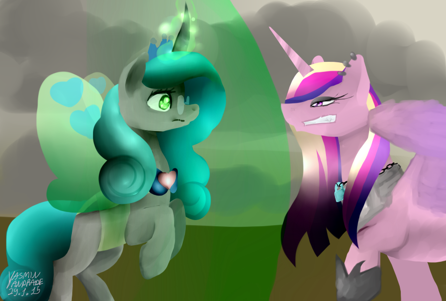 Queen Chrysalis vs princess cadence by Mimbyarts on DeviantArt Queen Chrysalis X Princess Cadence