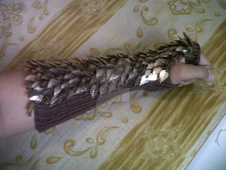 Knitting Pattern Dragon Scales : Knit Dragon scale Armor by chemistdikauna on DeviantArt