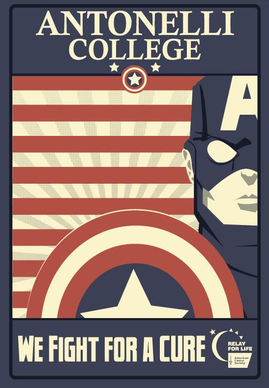 Captain America T-shirt design