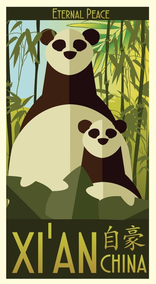 Panda Poster by stxd3