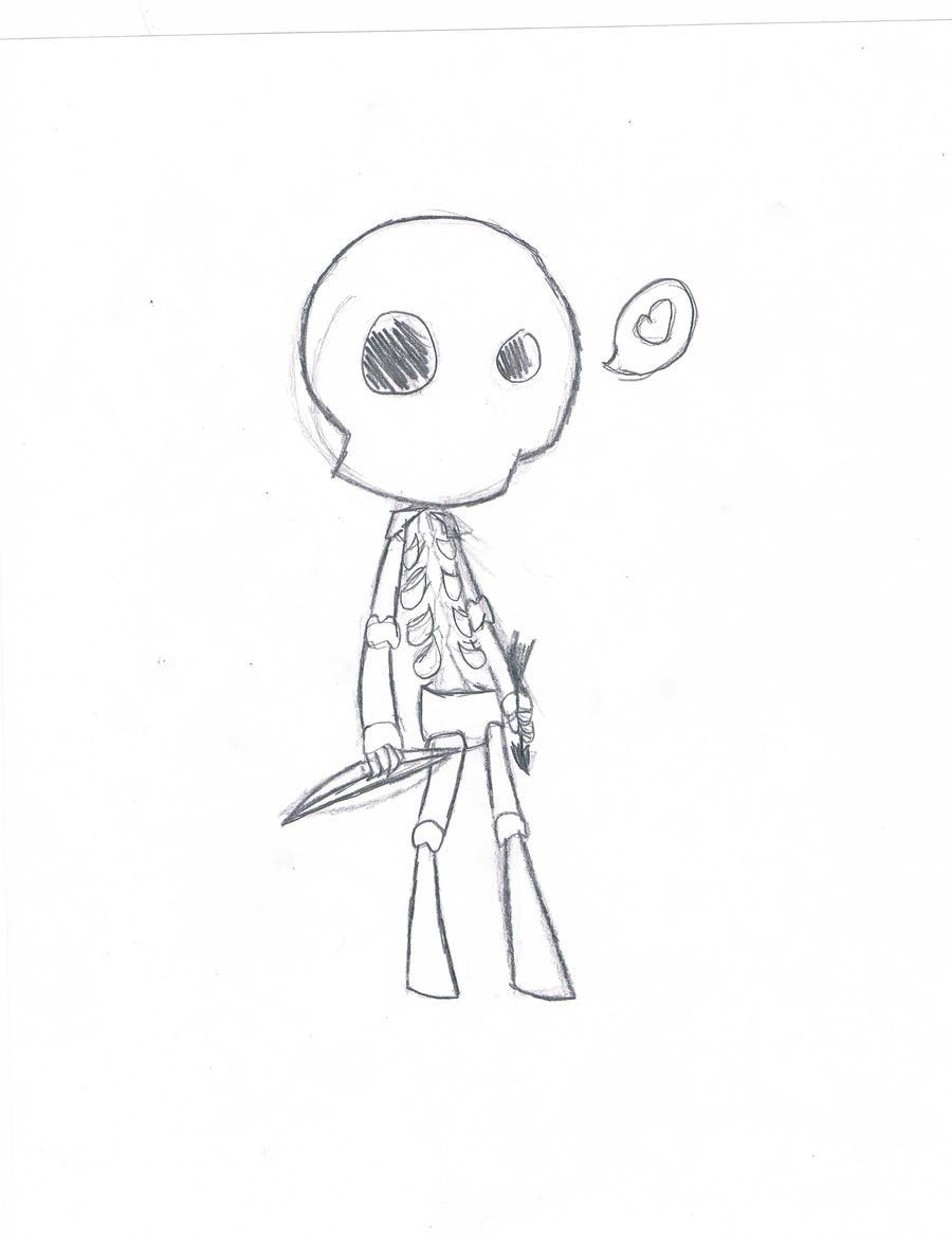 Minecraft drawings skeleton