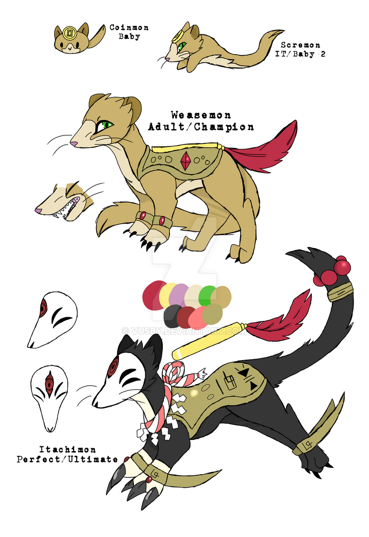 Weasel Babies (Ferremon's evolution line) by Vusby on ...