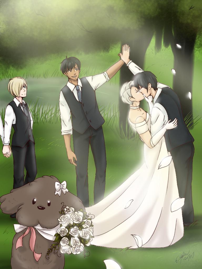 YURI ON WEDDING by Midnightglow20 on DeviantArt