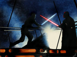 Star Wars- Luke VS Darth Vader by DookieAdz