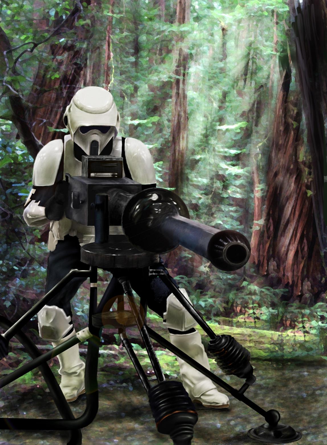 Star Wars :Scout Trooper by DookieAdz
