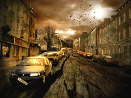 Post-apocalyptic Derry street by DookieAdz