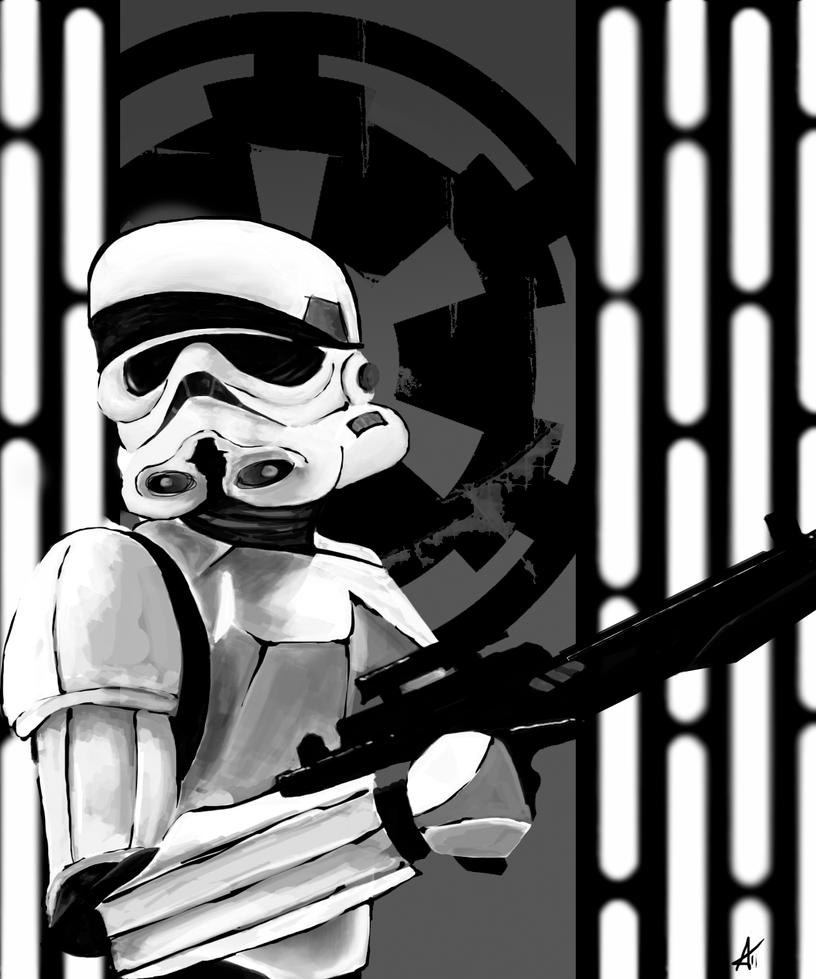 Stormtrooper Caricature by DookieAdz