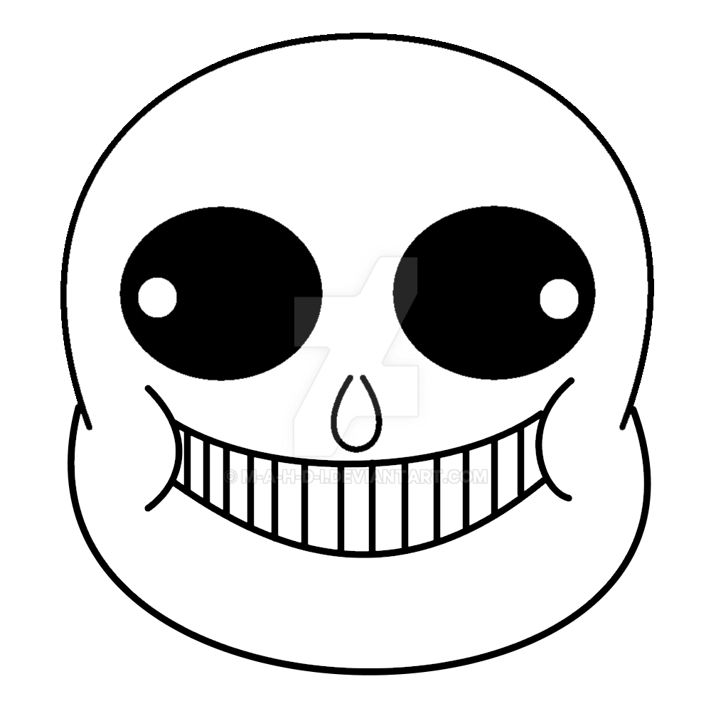 Printable sans face sticker by M-A-H-D-I on DeviantArt