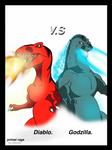 Primal rage Diablo vs Godzilla