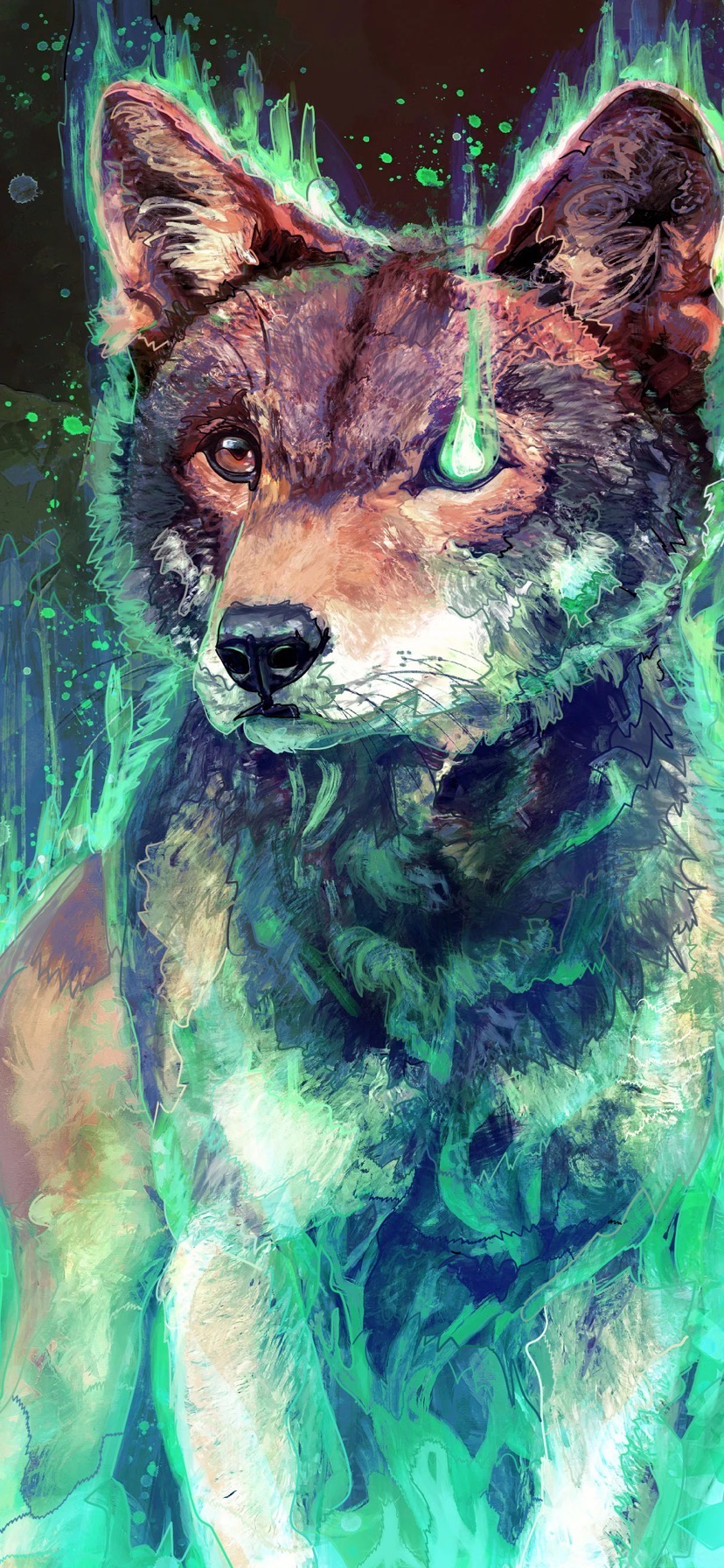 Ghostly wolf