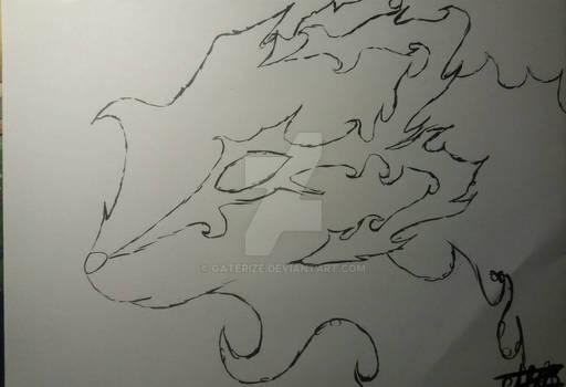 Rinoa on fire fantasy fox