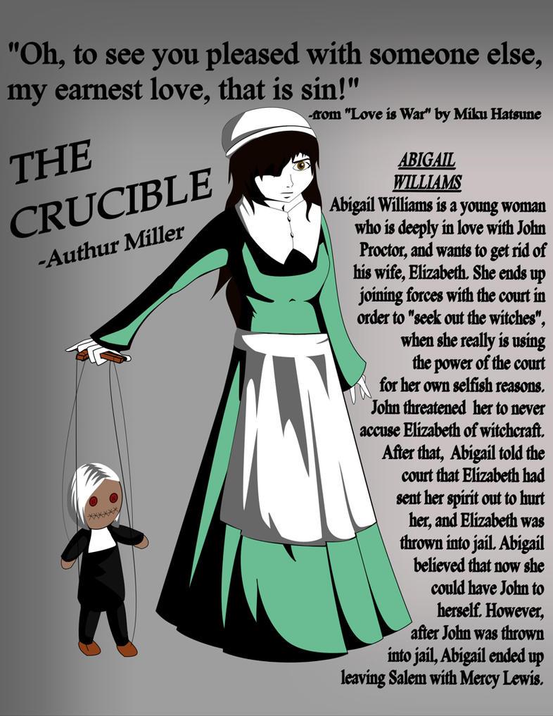 abigail williams essays crucible
