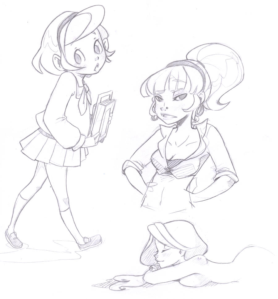 girly sketches by lazy day on deviantart