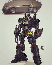 The Batmobile Autobot by Ultrafpc