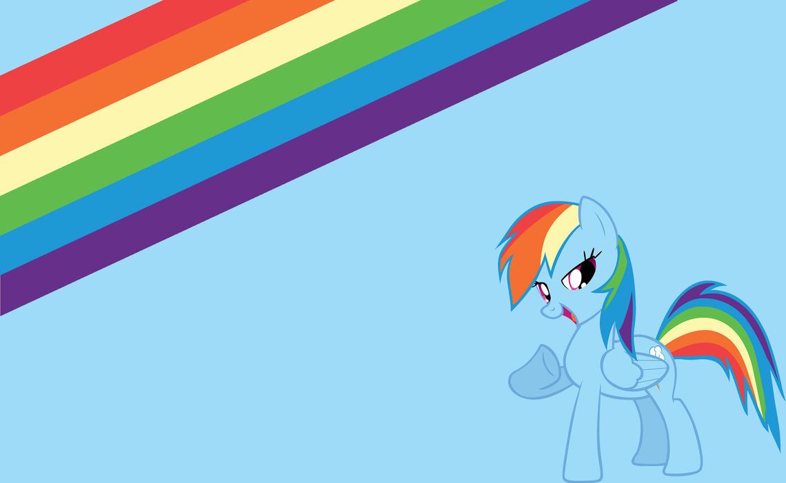 Rainbow Dash Minimalist Wallpaper [2600x1600] by MarkNuttTheKing