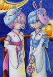 Rem and Ram by KodamaEru