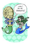 Omanyte Mermaid by KodamaEru