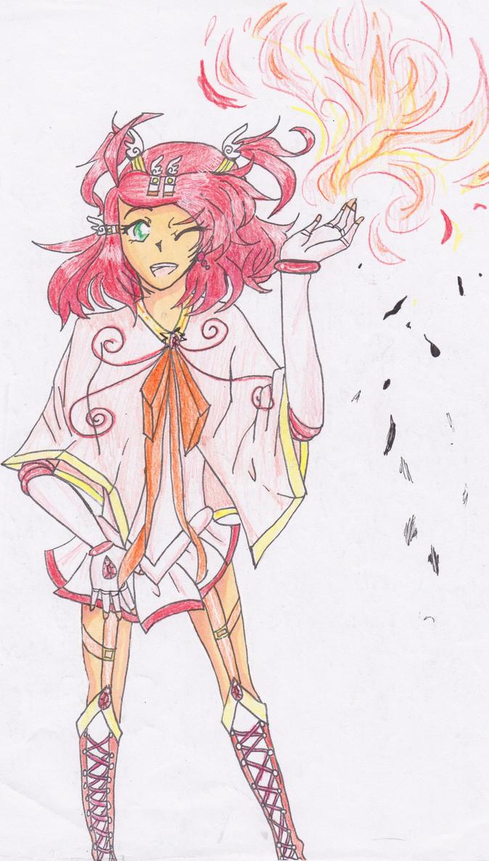 My OC Amulet Ruby/Kasei Hiirona by XDrawingWithSydneyX