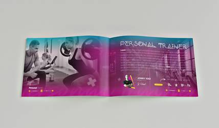 fitness catalog template design #2