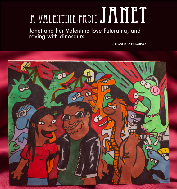 Valentine for Janet by pinguino