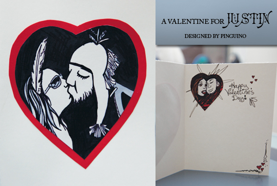Valentine for Justin by pinguino