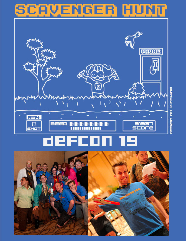 DefCon Scavenger Hunt T-Shirt by pinguino