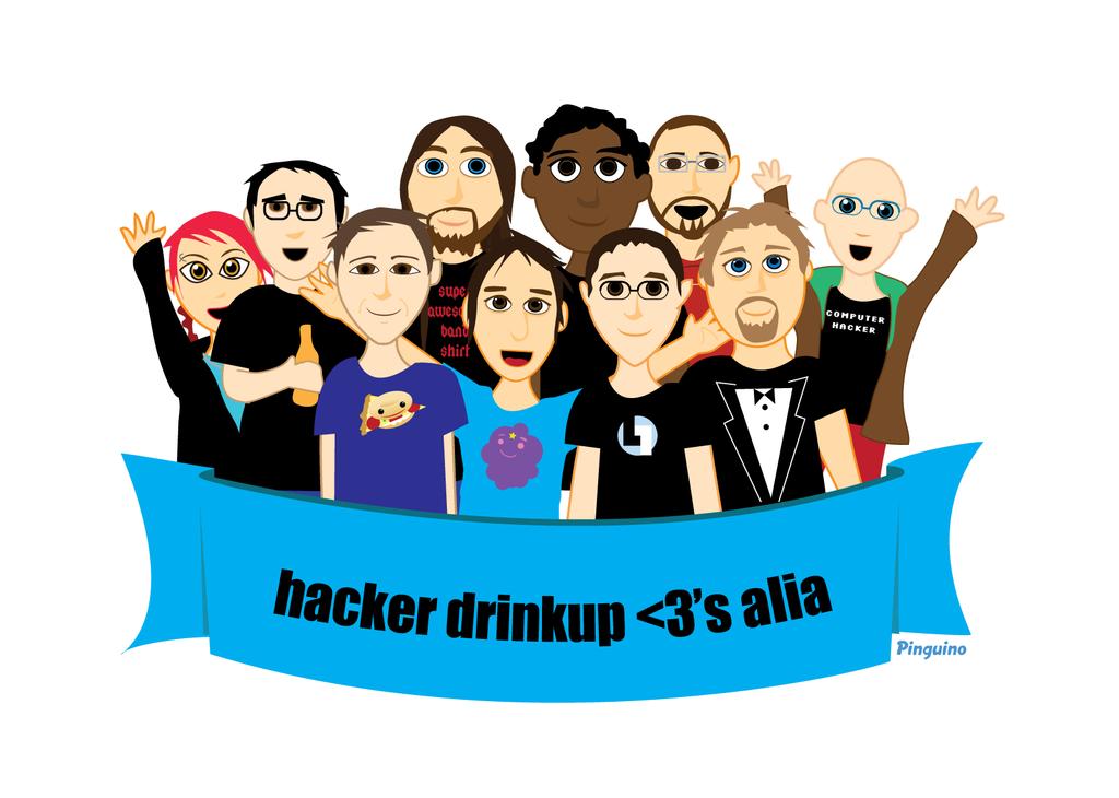 Hacker Drinkup by pinguino
