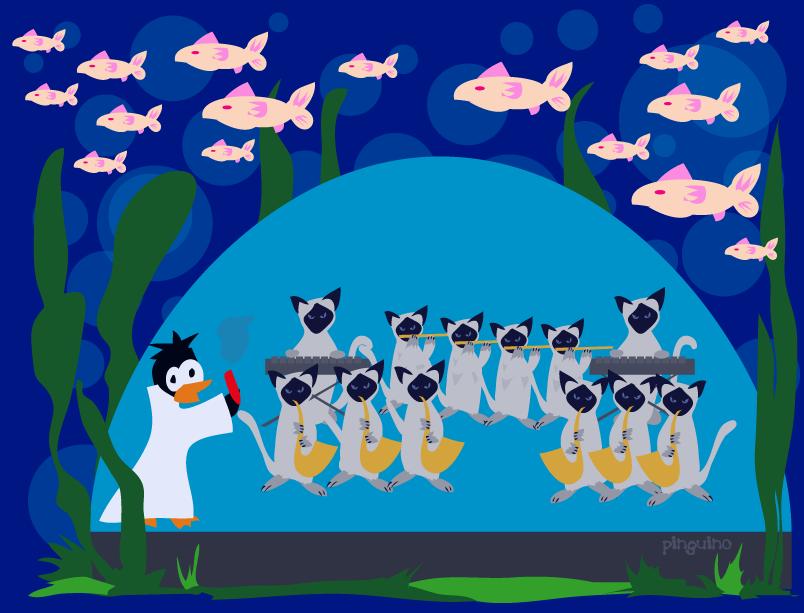 Underwater Siamese Symphony by pinguino