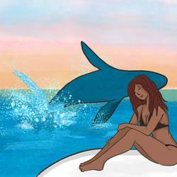 Inktober 12 - Whale