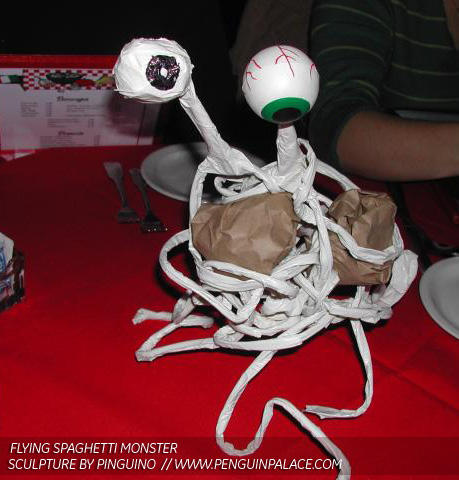 Flying Spaghetti Monster by pinguino